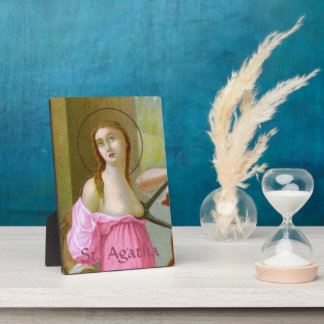 "Pink St. Agatha (M 003) 5""x7"" Plaque"