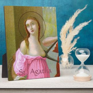 "Pink St. Agatha (M 003) 8""x10"" Plaque"
