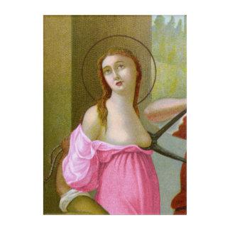 Pink St. Agatha (M 003) Acrylic Wall Art