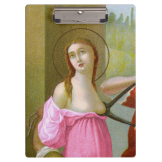 Pink St. Agatha (M 003) Clipboard