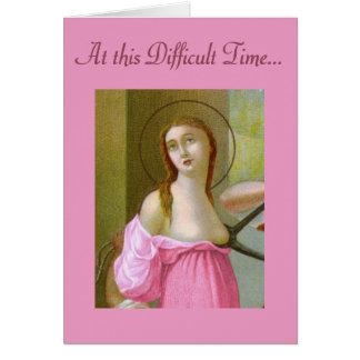 Pink St. Agatha (M 003) Encouragement Card
