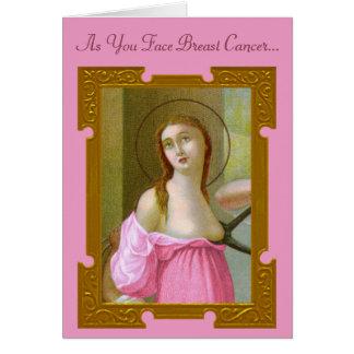 Pink St. Agatha (M 003) Encouragement Card #2