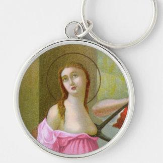 Pink St. Agatha (M 003) Keychain
