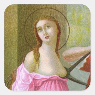 Pink St. Agatha (M 003) Square Sticker