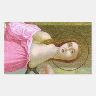 Pink St. Agatha (M 003) Sticker