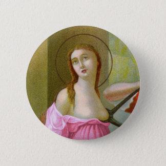 Pink St. Agatha (M 003a) 2 Inch Round Button