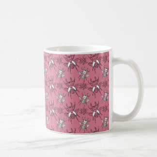 Pink Stag Beetles Pattern Coffee Mug
