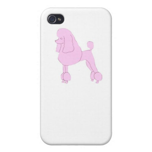 Pink Standard Poodle iphone Hard Cover Case iPhone 4/4S Case