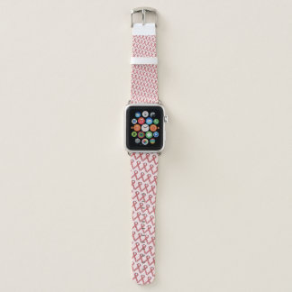 Pink Standard Ribbon by Kenneth Yoncich Apple Watch Band