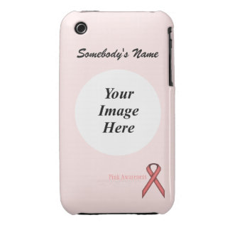 Pink Standard Ribbon by Kenneth Yoncich Case-Mate iPhone 3 Case