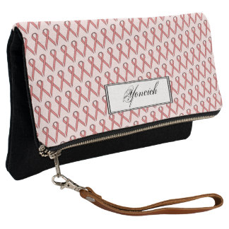 Pink Standard Ribbon by Kenneth Yoncich Clutch
