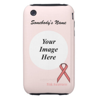 Pink Standard Ribbon by Kenneth Yoncich iPhone 3 Tough Covers