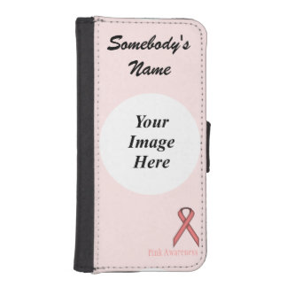 Pink Standard Ribbon by Kenneth Yoncich Phone Wallet