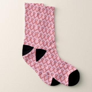 Pink Standard Ribbon by Kenneth Yoncich Socks