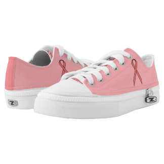 Pink Standard Ribbon Low-Top Sneakers