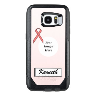 Pink Standard Ribbon Template by Kenneth Yoncich OtterBox Samsung Galaxy S7 Edge Case