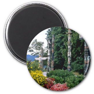 Pink Stanley Park, Vancouver flowers 2 Inch Round Magnet