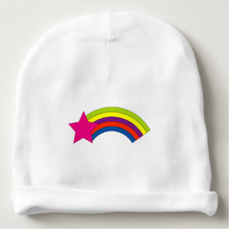 Pink Star and Rainbow Baby Beanie