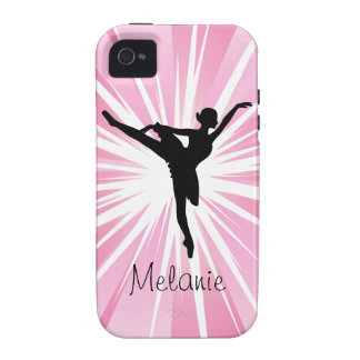 Pink Star Ballerina iPhone 4/4s vibe iPhone 4/4S Cases
