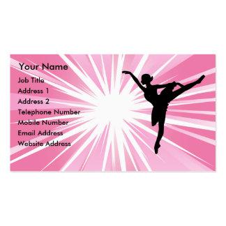 Pink Star Ballerina Pack Of Standard Business Cards