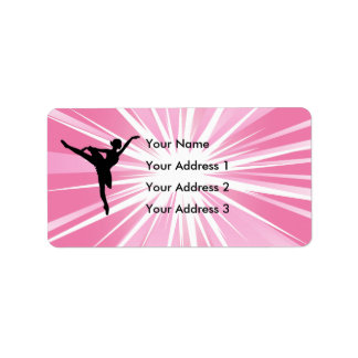 Pink Star Ballerina Personalized Address Label