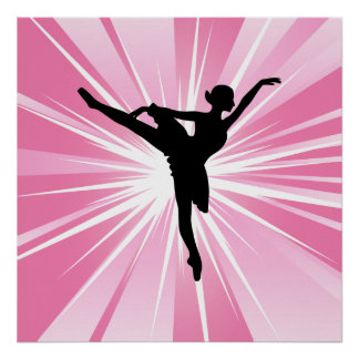Pink Star Ballerina Poster