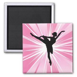 Pink Star Ballerina Refrigerator Magnet