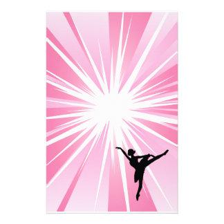 Pink Star Ballerina Stationery