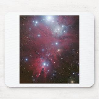Pink Star Cluster Nebula Mouse Pad