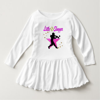 PINK STAR LITTLE SLUGGER SOFTBALL DESIGN DRESS