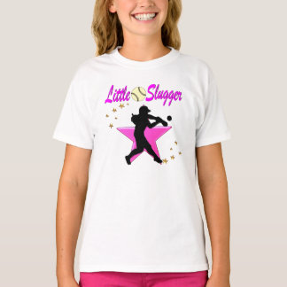 PINK STAR LITTLE SLUGGER SOFTBALL DESIGN T-Shirt