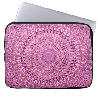 Pink star mandala laptop sleeve