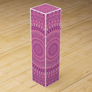 Pink star mandala wine gift box