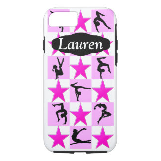 PINK STAR PERSONALIZED GYMNASTICS IPHONE CASE