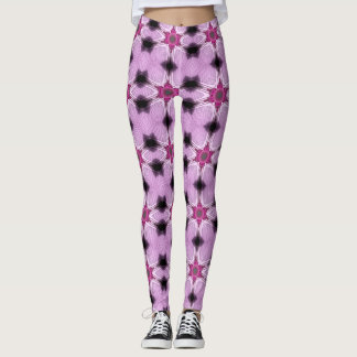 Pink Star Spatter Geometric Leggings