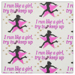 PINK STAR TRACK AND FIELD CHAMPION FABRIC