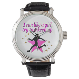 PINK STAR TRACK AND FIELD CHAMPION WATCHES