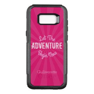 Pink Starburst Let The Adventure Begin Now Edge OtterBox Commuter Samsung Galaxy S8+ Case
