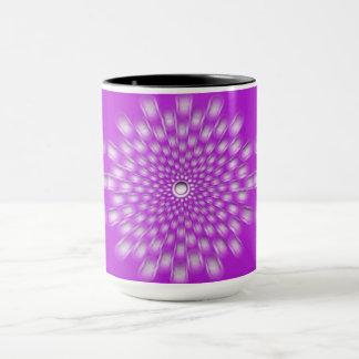 Pink Starburst Mandala ceramic mug