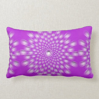Pink Starburst Mandala throw or lumbar pillow
