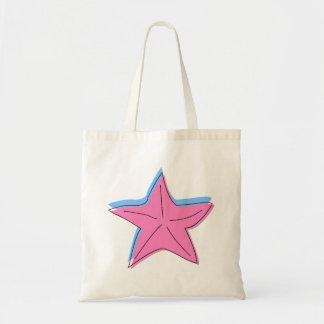 Pink Starfish Canvas Bag