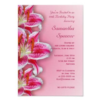 Pink Stargazer  Birthday Invitation