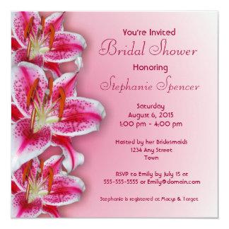 Pink Stargazer Bridal Shower Invitation