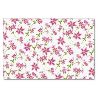 Pink Stargazer Lily Floral Tissue Paper