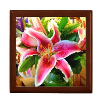 pink stargazer lily gift box
