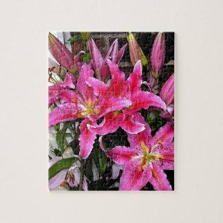 Pink Stargazer Lily Jigsaw Puzzle