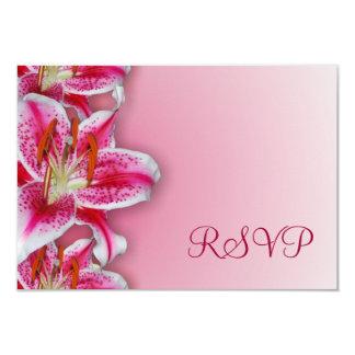 "Pink Stargazer RSVP Card 3.5"" X 5"" Invitation Card"
