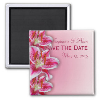 Pink Stargazer Save The Date Magnet