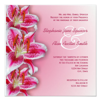 Pink Stargazer Wedding Invitation