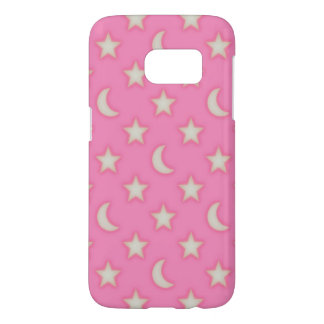Pink stars and moons pattern samsung galaxy s7 case
